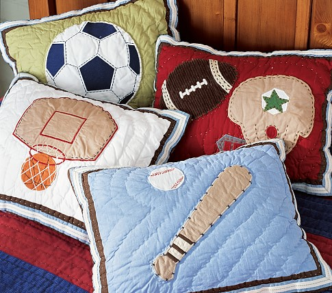 Sports Quilted Decorative Sham, Baseball