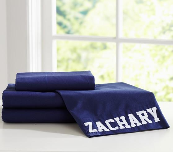 Organic Cotton Sheet Set, Twin, Navy