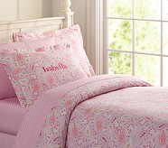 Paisley Duvet Cover, Twin, Pink