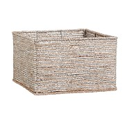 Silver Rope Basket Large