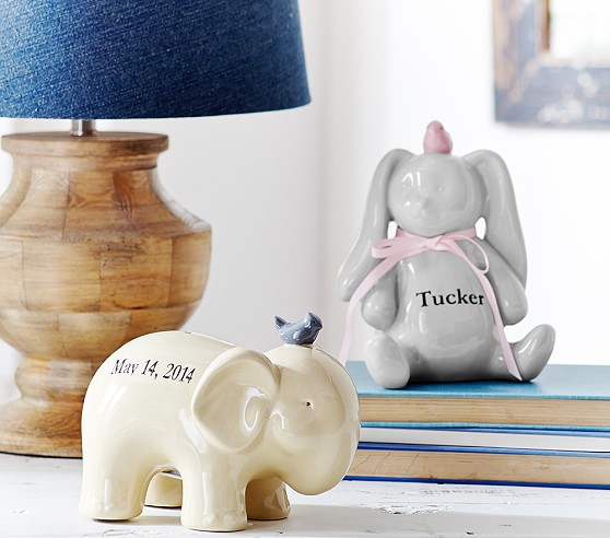 Ceramic Nursery Bank, Elephant