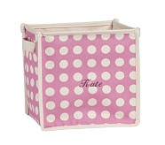 Dot Square Pop-Up Tote, Bright Pink Dot