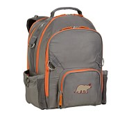 Fairfax Gray/Orange Large Backpack, Dino