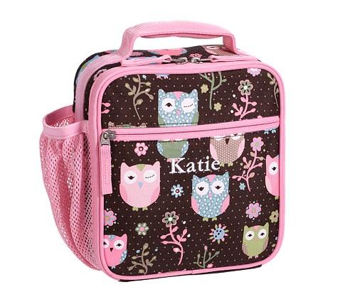 Mackenzie Chocolate Owl Classic Lunch Bag
