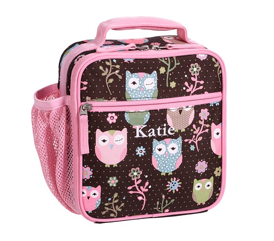 Mackenzie Chocolate Owl Classic Lunch Bag