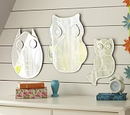 "Owl Shaped Mirror, 9.5"" x 14"", Small"