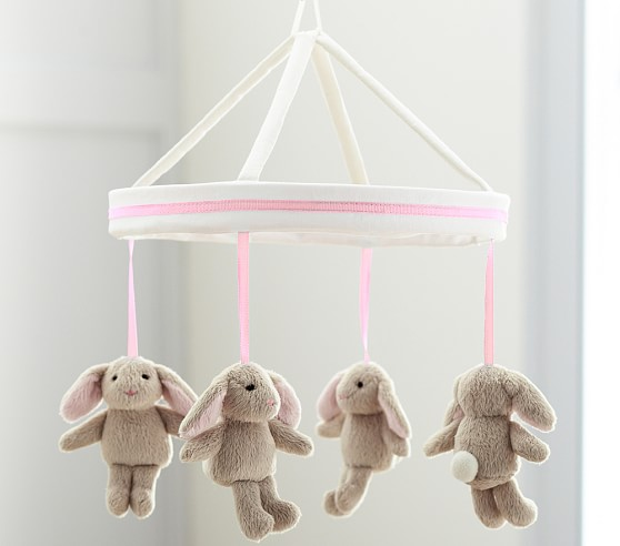 Light Pink Harper Bunny Mobile