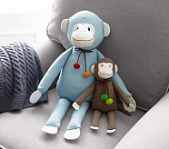 Swinging Monkey Plush, Small Brown