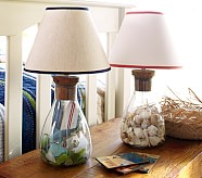 Natural/Navy Collectors Lamp