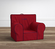 Anywhere Chair® Insert & Slipcover Set, Red with Navy Piping