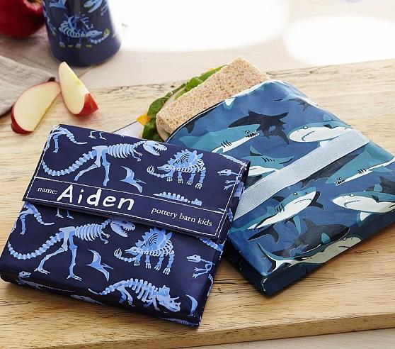 Mackenzie Blue Dino Reusable Snack Bag