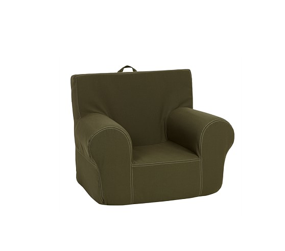 Olive Twill Stitch Anywhere Chair Slipcover