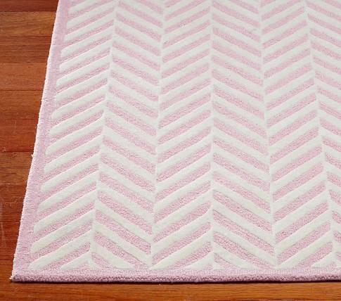 Herringbone Rug (Pink) 3x5'