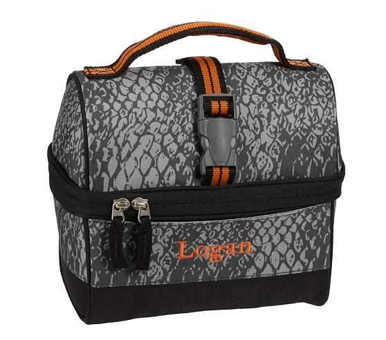 Mackenzie Gray Snakeskin Retro Lunch Bag