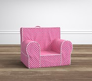 Bright Pink Mini Dot with White Piping My First Anywhere Chair