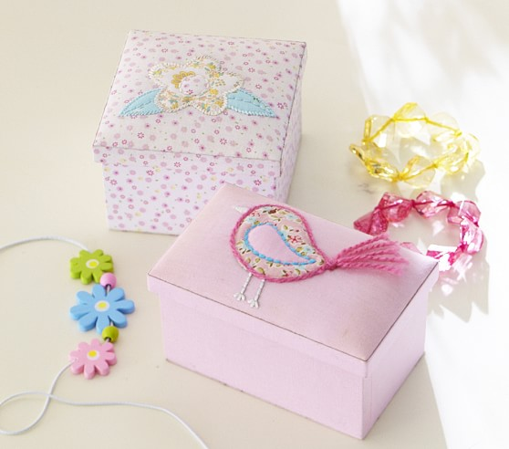 Collector's Fabric Box, Pink Flower