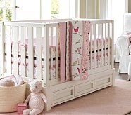 Penelope Nursery Bedding Set, Pink/Chocolate
