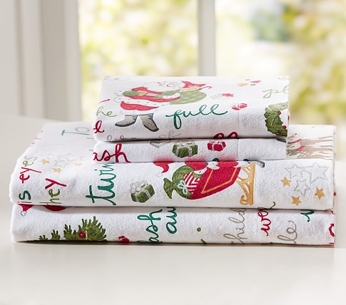 T'was the Night Before Christmas Flannel Sheet Set, Full