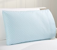 Mini Dot Toddler Pillowcase, Blue