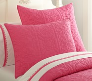 Whitney Standard Quilted Sham, Bright Pink