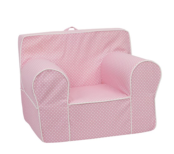 Mini Dot Oversized Anywhere Chair® Slipcover Only, Light Pink