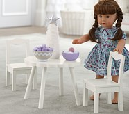 Doll Flower Table With Chairs
