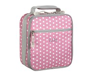 Mackenzie Gray/Pink Dot Classic Lunch Bag