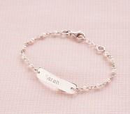 White Pearl ID Bracelet