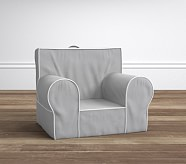 Gray with White Piping Anywhere Chair®