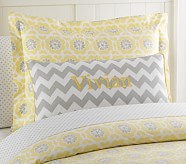 Chevron Applique Decorative Sham