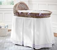 Harper Bassinet Bedding Set: Bumper & Crib Skirt, Lavender