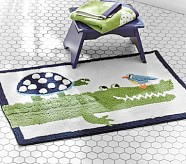Alligator Bath Mat, Green