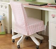 Taylor Swivel Chair Cushion, Pink Buffalo Check