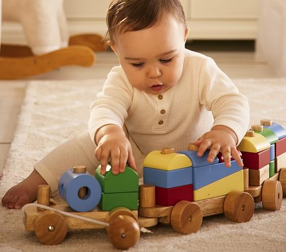 Jumbo Wood Pull Toy Train