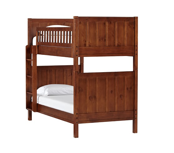 Camp Bunk Bed, Rustic Chestnut