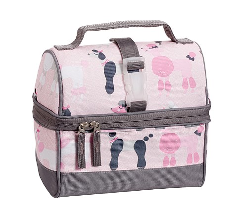 Mackenzie Gray Poodle Retro Lunch Bag