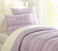 Lillian Euro Quilted Sham, Lavender