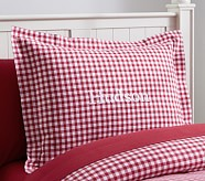 Buffalo Check Flannel Standard Sham, Red