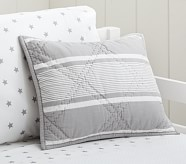 Jackson Small Quilted Sham, Gray