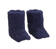 Kid Sherpa Slippers, M Navy