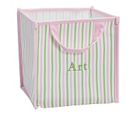 Collapsible Storage, Pink Stripe