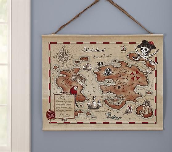 Personalized Kidlandia Pirate Map Art