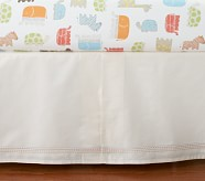 Organic Safari Crib Skirt