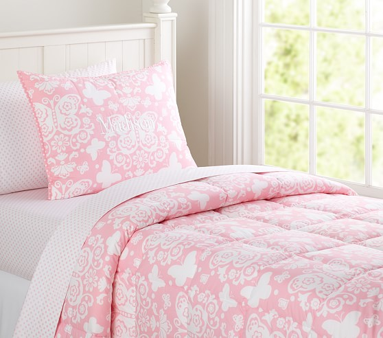 Loft Butterfly Quilt, Pink, Full/Queen
