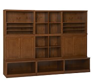Storage System with Wood Cabinets