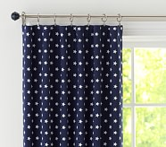 "Star Jacquard Blackout Panel 63"" Navy"
