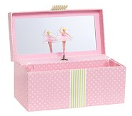 Pink Dot Sadie Jewelry Box, Rectangle
