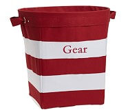 Large Red/White Striped Canvas Storage