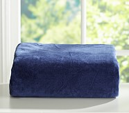 Chamois Fitted Sheet, Twin, Navy