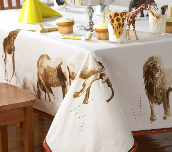 "Explorer Party Tablecloth, 70"" x 90"""